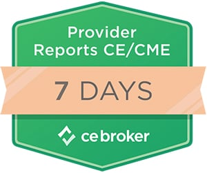 CE Broker Reporting Badge 7 Days
