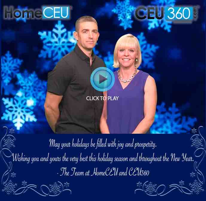 Merry Christmas from the Team at HomeCEU!!