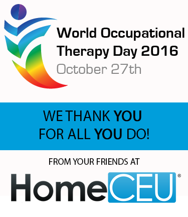 October 27th is World Occupational Therapy Day!