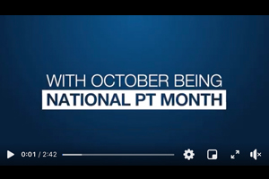 October is National PT Month